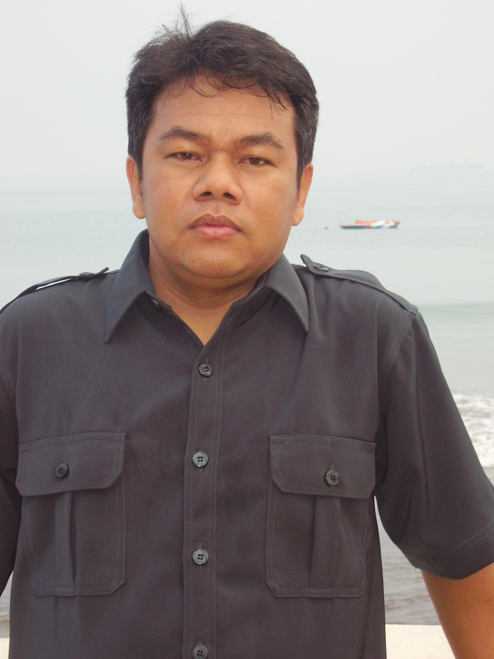 Pagi ditepi Pantai Anyer sebelum mengikuti kegiatan Workshop Kepala